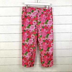 Lilly Pulitzer Palm Beach Fit Pink Rose Crop Pants